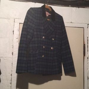Juicy couture tartan plaid blazer